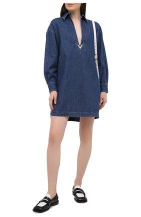 Женское джинсовое платье VALENTINO синего цвета, арт. VB3DBD26433 | Фото 2