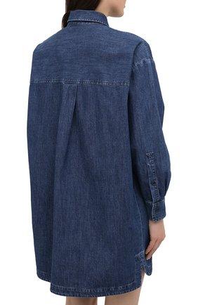 Женское джинсовое платье VALENTINO синего цвета, арт. VB3DBD26433 | Фото 4