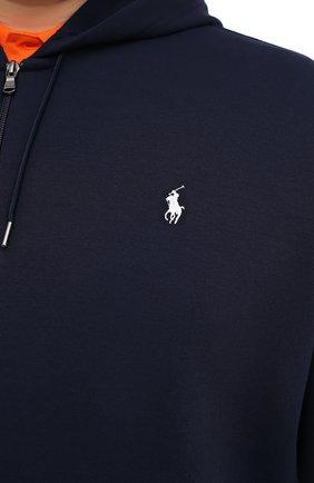 Мужской толстовка POLO RALPH LAUREN темно-синего цвета, арт. 711725238/PRL BS | Фото 5 (Рукава: Длинные; Мужское Кросс-КТ: Толстовка-одежда; Материал внешний: Синтетический материал, Хлопок; Длина (для топов): Удлиненные; Стили: Спорт-шик)