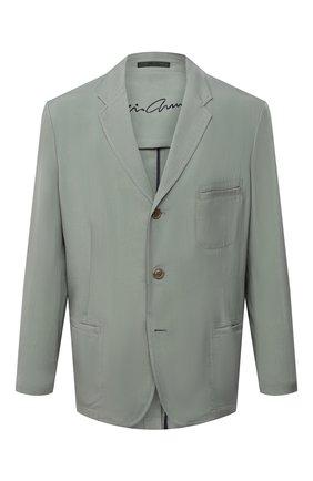 Мужской пиджак GIORGIO ARMANI светло-зеленого цвета, арт. 1SGGG0MK/T00AB   Фото 1