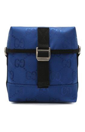 Мужская текстильная сумка off the grid GUCCI синего цвета, арт. 643858/H9HKN | Фото 1