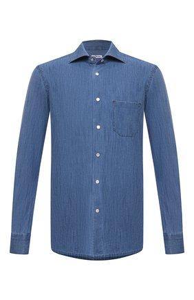 Мужская рубашка KITON синего цвета, арт. UMCNERCH0763002 | Фото 1