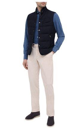 Мужская рубашка KITON синего цвета, арт. UMCNERCH0763002 | Фото 2