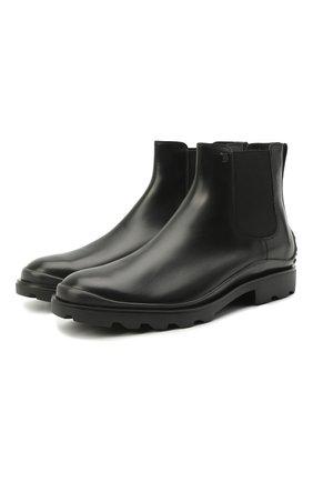 Мужские кожаные челси TOD'S черного цвета, арт. XXM04E00P20LYG | Фото 1