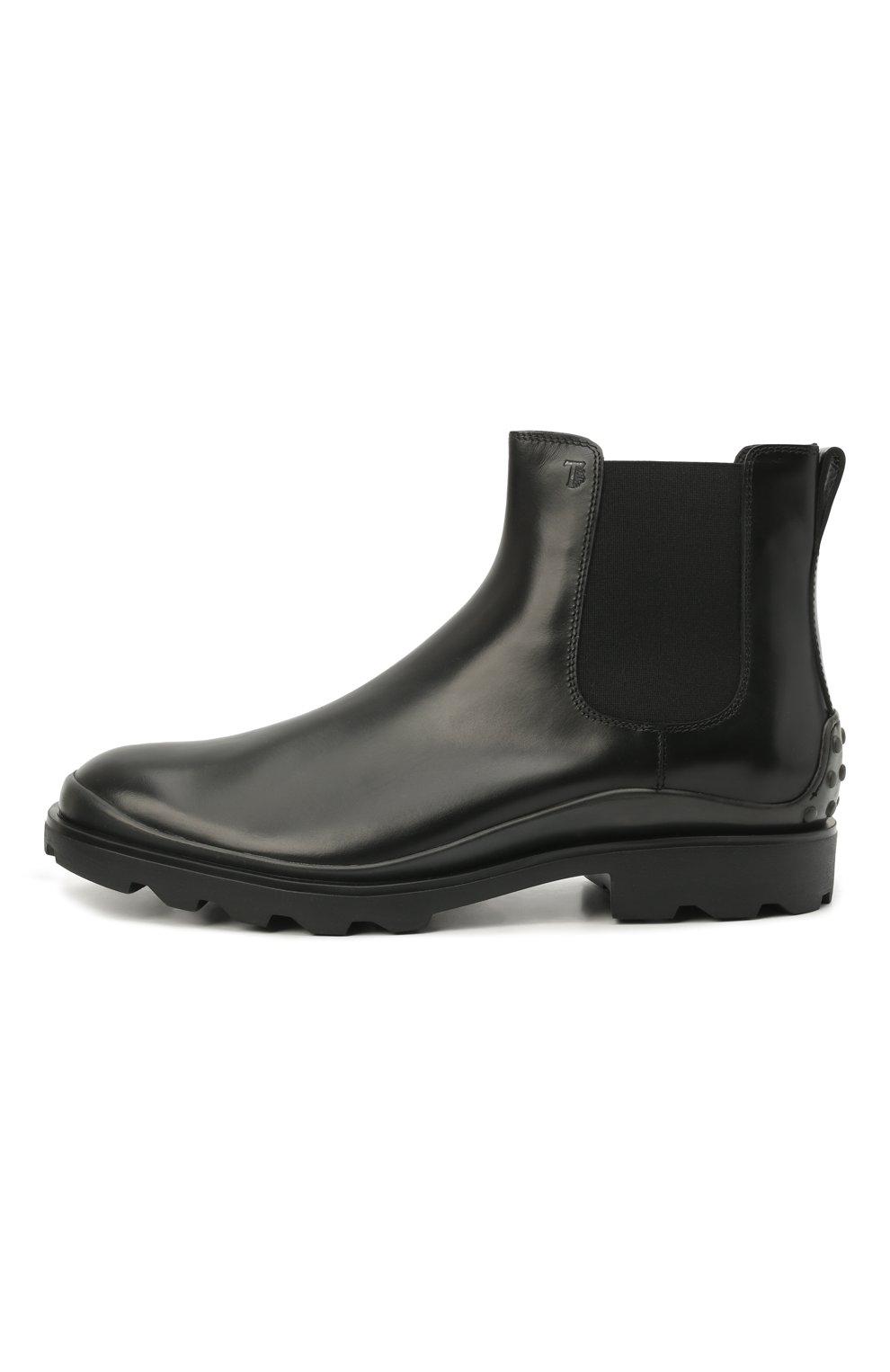 Мужские кожаные челси TOD'S черного цвета, арт. XXM04E00P20LYG | Фото 3 (Материал внутренний: Натуральная кожа; Подошва: Плоская; Мужское Кросс-КТ: Сапоги-обувь, Челси-обувь)
