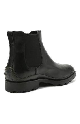 Мужские кожаные челси TOD'S черного цвета, арт. XXM04E00P20LYG | Фото 4 (Материал внутренний: Натуральная кожа; Подошва: Плоская; Мужское Кросс-КТ: Сапоги-обувь, Челси-обувь)