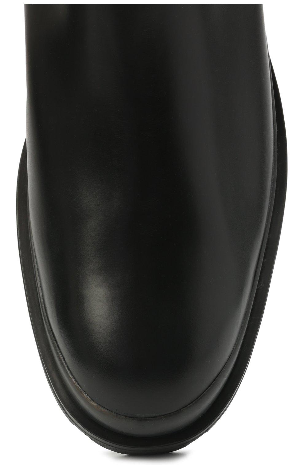 Мужские кожаные челси TOD'S черного цвета, арт. XXM04E00P20LYG | Фото 5 (Материал внутренний: Натуральная кожа; Подошва: Плоская; Мужское Кросс-КТ: Сапоги-обувь, Челси-обувь)