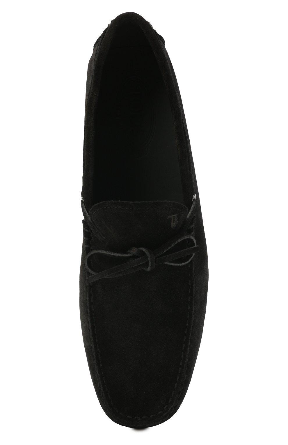 Мужские замшевые мокасины TOD'S черного цвета, арт. XXM0GW05470RE0 | Фото 5 (Материал внутренний: Натуральная кожа; Материал внешний: Замша; Стили: Кэжуэл)