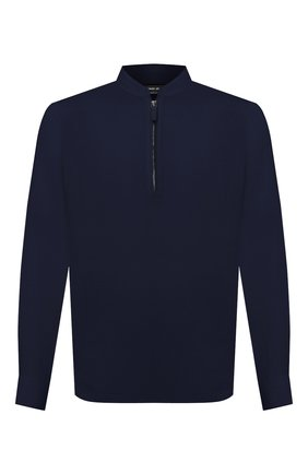 Мужская льняная рубашка GIORGIO ARMANI темно-синего цвета, арт. 1SGCCZ50/TZ256 | Фото 1