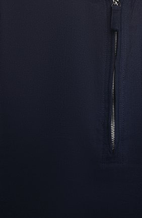 Мужская льняная рубашка GIORGIO ARMANI темно-синего цвета, арт. 1SGCCZ50/TZ256   Фото 5