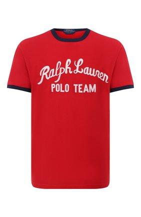 Мужская хлопковая футболка POLO RALPH LAUREN красного цвета, арт. 710836749 | Фото 1