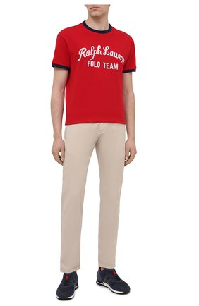 Мужская хлопковая футболка POLO RALPH LAUREN красного цвета, арт. 710836749 | Фото 2