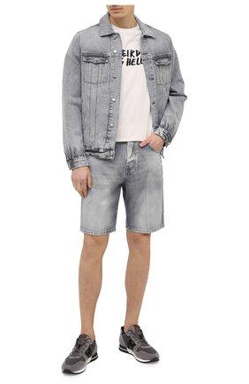 Мужские джинсовые шорты DON THE FULLER светло-серого цвета, арт. DHS1/SE0UL SH0RT/DTF/72GRSS761 | Фото 2