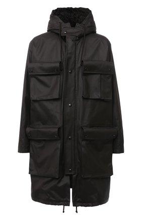 Мужская хлопковая парка BOTTEGA VENETA темно-коричневого цвета, арт. 649308/V04C0 | Фото 1 (Материал внешний: Хлопок; Длина (верхняя одежда): До колена; Стили: Минимализм; Кросс-КТ: Куртка; Материал подклада: Синтетический материал; Рукава: Длинные)