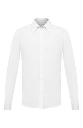 Мужская хлопковая рубашка BOTTEGA VENETA белого цвета, арт. 651007/VKDZ0 | Фото 1