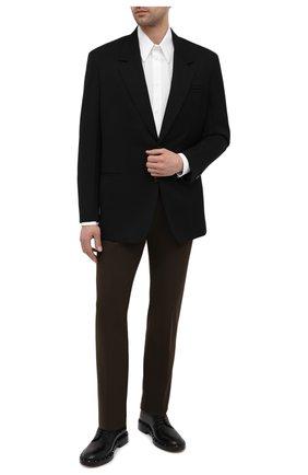 Мужская хлопковая рубашка BOTTEGA VENETA белого цвета, арт. 651007/VKDZ0 | Фото 2