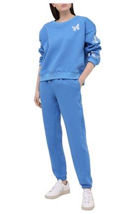 Женский хлопковый костюм SEVEN LAB синего цвета, арт. SWPW20-but EM bright blue | Фото 1