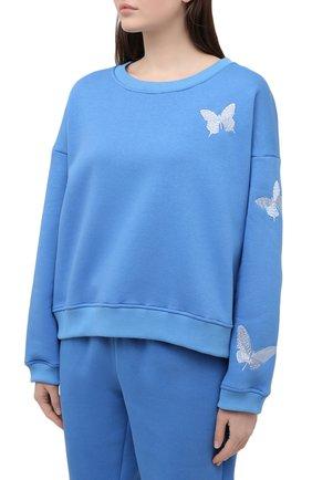Женский хлопковый костюм SEVEN LAB синего цвета, арт. SWPW20-but EM bright blue | Фото 2