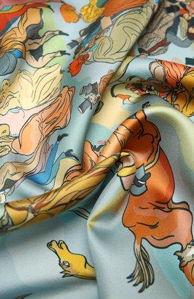 Женский шелковый платок horse racing RADICAL CHIC разноцветного цвета, арт. 550653.07.02   Фото 2