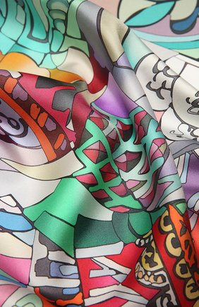 Женский шелковый платок basil the blessed RADICAL CHIC разноцветного цвета, арт. 551301.07.02   Фото 2