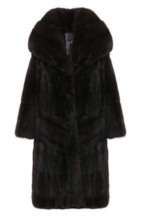 Женская шуба из меха соболя ZILLI коричневого цвета, арт. WAS-ZC0N3-ZIB00/0001 | Фото 1