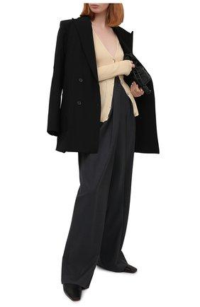 Женский кардиган из кашемира и шелка LANVIN бежевого цвета, арт. RW-JA710M-MA02-P21   Фото 2