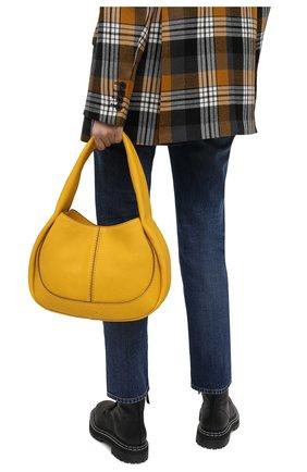 Женская сумка aou TOD'S желтого цвета, арт. XBWA0US0200UCA   Фото 2