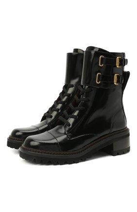Женские кожаные ботинки mallory SEE BY CHLOÉ черного цвета, арт. SB33080A/12280 | Фото 1
