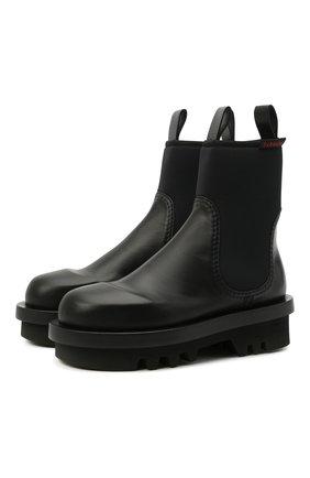 Женские комбинированные ботинки PROENZA SCHOULER черного цвета, арт. PS35260A/12370   Фото 1