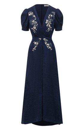 Женское шелковое платье SALONI синего цвета, арт. 1764-04/5401 | Фото 1