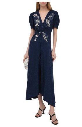 Женское шелковое платье SALONI синего цвета, арт. 1764-04/5401 | Фото 2