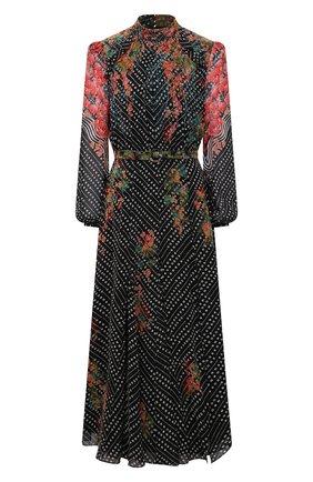 Женское шелковое платье SALONI синего цвета, арт. 10486-1538 | Фото 1