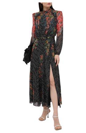 Женское шелковое платье SALONI синего цвета, арт. 10486-1538 | Фото 2