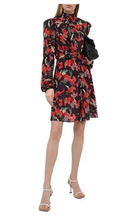 Женское шелковое платье SALONI разноцветного цвета, арт. 10469-1536 | Фото 2