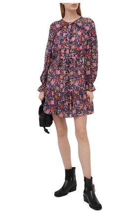 Женское шелковое платье SALONI синего цвета, арт. 10447-1492 | Фото 2