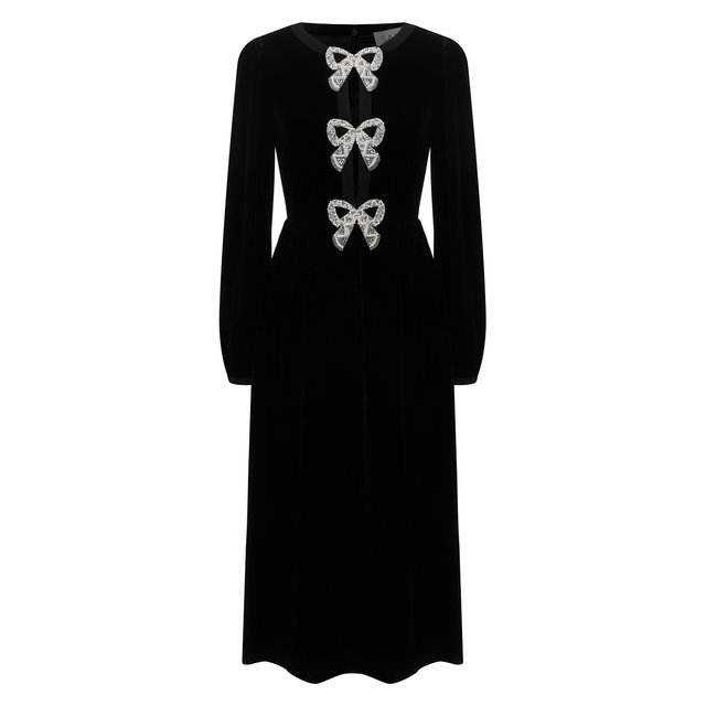 Бархатное платье Saloni