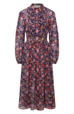 Женское шелковое платье SALONI синего цвета, арт. 10197-1492 | Фото 1