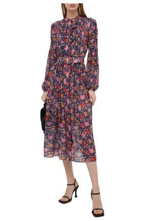 Женское шелковое платье SALONI синего цвета, арт. 10197-1492 | Фото 2