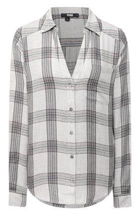 Женская рубашка из хлопка и вискозы PAIGE серого цвета, арт. 5382H88-8735 | Фото 1