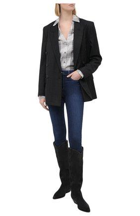 Женская рубашка из хлопка и вискозы PAIGE серого цвета, арт. 5382H88-8735 | Фото 2