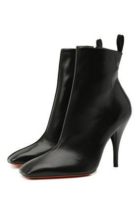 Женские кожаные ботильоны SANTONI черного цвета, арт. WTNQ59368HA2TSCKN01   Фото 1
