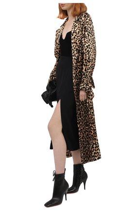 Женские кожаные ботильоны SANTONI черного цвета, арт. WTNQ59368HA2TSCKN01   Фото 2