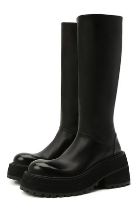 Женские кожаные сапоги MARSELL черного цвета, арт. MW6024/PELLE VITELL0 | Фото 1