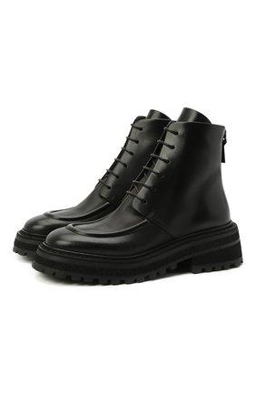 Женские кожаные ботинки MARSELL черного цвета, арт. MW6036/PELLE VITELL0 | Фото 1