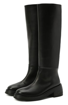 Женские кожаные сапоги MARSELL черного цвета, арт. MW6058/PELLE VITELL0 | Фото 1