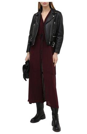 Женские кожаные сапоги MARSELL черного цвета, арт. MW6058/PELLE VITELL0 | Фото 2