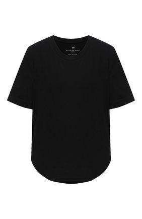 Женская хлопковая футболка HEROINE SPORT черного цвета, арт. HS-2-106/FALL 2020 | Фото 1