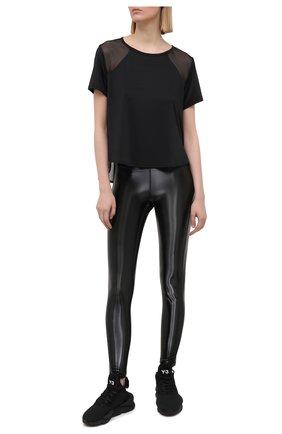 Женская футболка HEROINE SPORT черного цвета, арт. HS-2-104/FALL 2020 | Фото 2