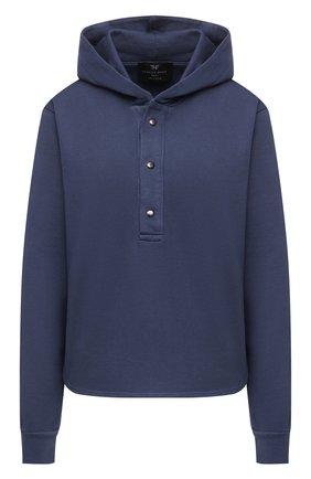 Женский пуловер с капюшоном HEROINE SPORT синего цвета, арт. HS-2-095/FALL 2020 | Фото 1