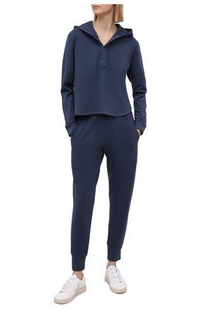 Женский пуловер с капюшоном HEROINE SPORT синего цвета, арт. HS-2-095/FALL 2020 | Фото 2